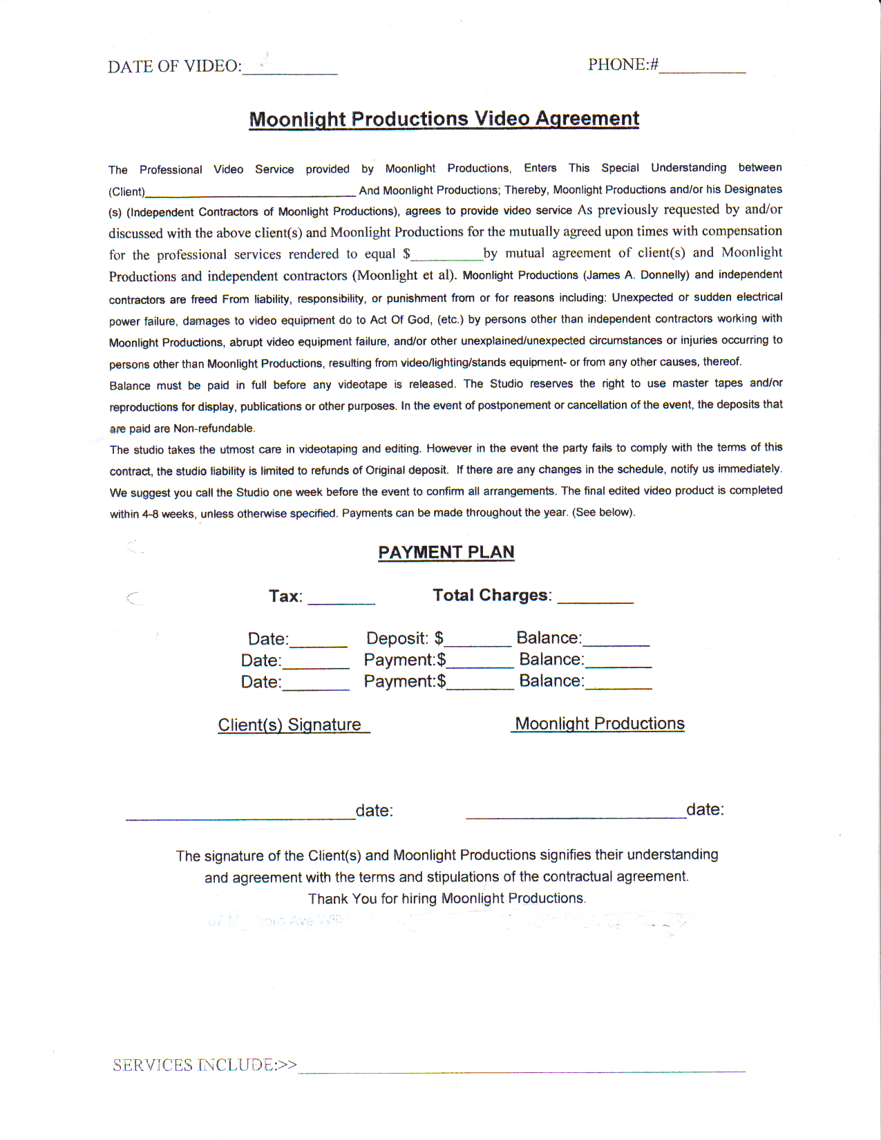 Wedding photography contract doc Wedding photography - Masterwork Weddings